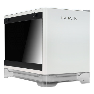 InWin インウィン ワイヤレス給電機能 600W電源搭載 Mini-ITX PCケース A1 ホワイト [A1White / IW-A1-WHI-P]