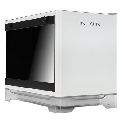 InWin インウィン ワイヤレス給電機能 600W電源搭載 Mini-ITX PCケース A1 ホワイト [A1White / IW-A1-WHI-P]