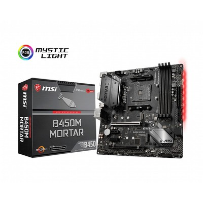 MSI エムエスアイ マザーボード B450M MORTAR [AMD AM4 Ryzen B450]