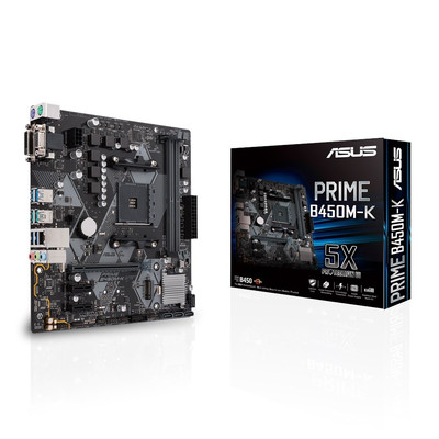 ASUS エイスース マザーボード PRIME B450M-K [AMD AM4 Ryzen B450]