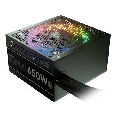GAMDIAS ガンディアス RGB LEDファン搭載 PC用電源 ASTRAPEシリーズ 650Wモデル [ASTRAPE M1-650W 80 PLUS]