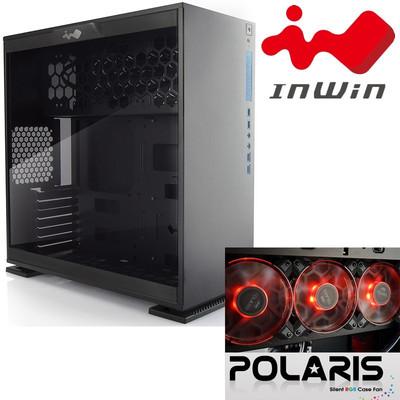 InWin インウィン ミドルタワー PCケース 303 ブラック + RGBケースファン POLARIS x3台 特別セット [IW-CF06B 303-Black/Polaris]
