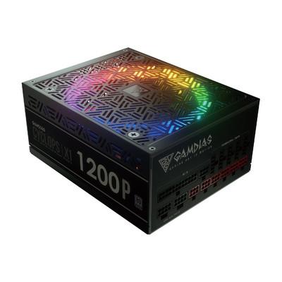 GAMDIAS ガンディアス RGB LED搭載 電源 CYCLOPSシリーズ 1200Wモデル [CYCLOPS X1-1200W-P 80 PLUS Platinum フルモジュラー式]