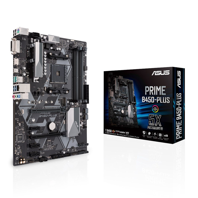 ASUS エイスース マザーボード PRIME B450-PLUS [AMD AM4 Ryzen B450]
