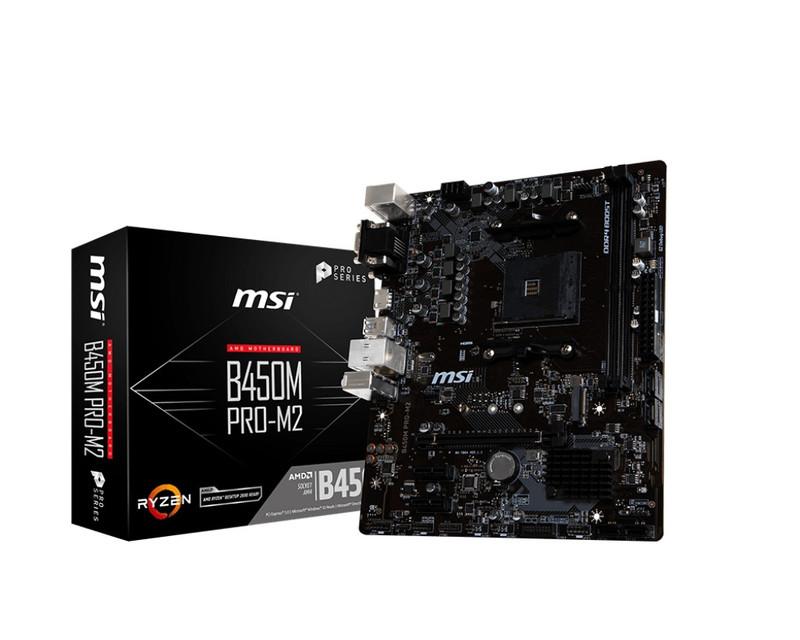 MSI エムエスアイ マザーボード B450M PRO-M2 [AMD AM4 Ryzen B450]